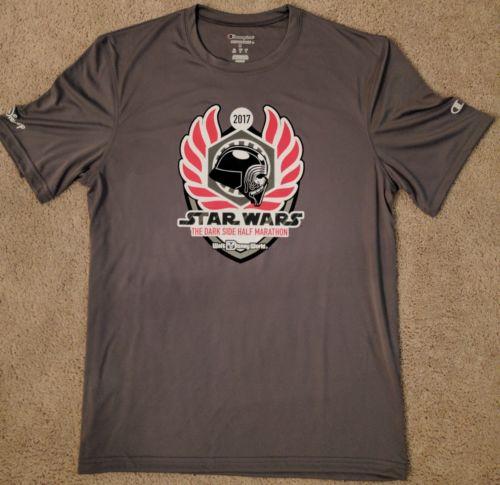2017 Star Wars Dark Side Half Marathon Tech Shirt Men's Medium Kylo Ren Dri-Fit
