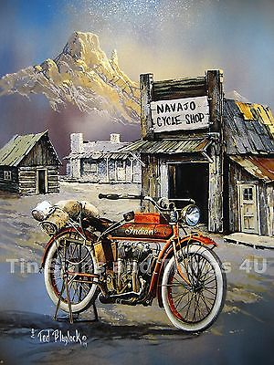 Blaylock Apache Indian TIN SIGN wall decor vintage motorcycle art poster 1030