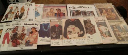 Wearable Art / Sewing Pattern Lot - 15 Total