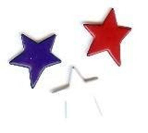 Primitive Star Brads - Bulk 25ct - Red, White, Blue