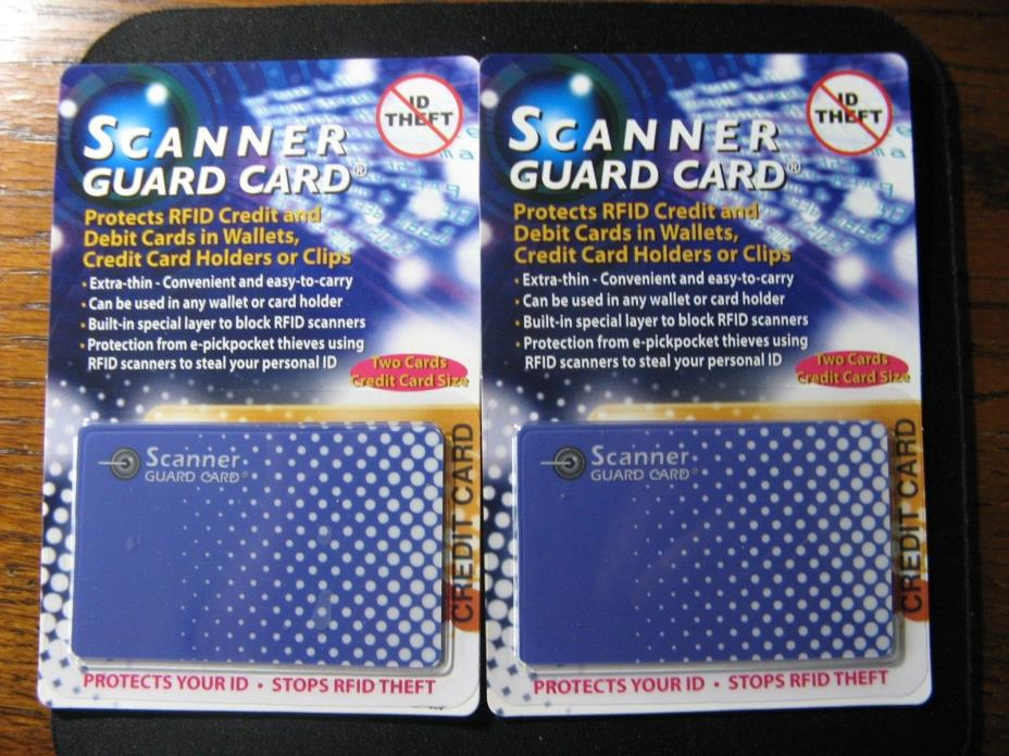 2- Scanner Guard Mirror Card Protects ID Theft RFID Credit Cards in Wallet