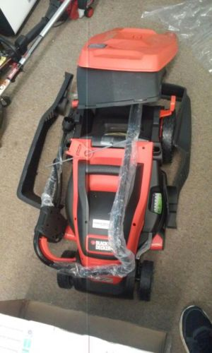 Electric Lawn Mower Corded 15-Inch Edge Max Light Clean Safe 10Amp BLACK+DECKER