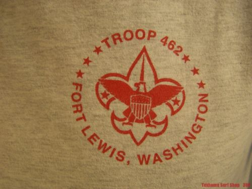 BSA Troop 462 T SHIRT Boy Scouts of America Fort Lewis Washington scouting M