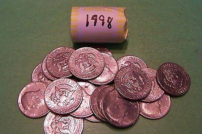 1998 Kennedy Half Dollar Roll (20 coins)