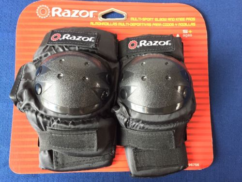 Razor Child Multi Sport Elbow Knee Pad Safety Set Black