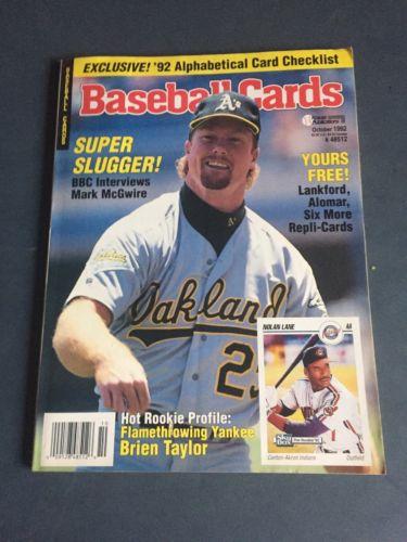 Baseball Cards Magazine October 1992 Mark McGwire