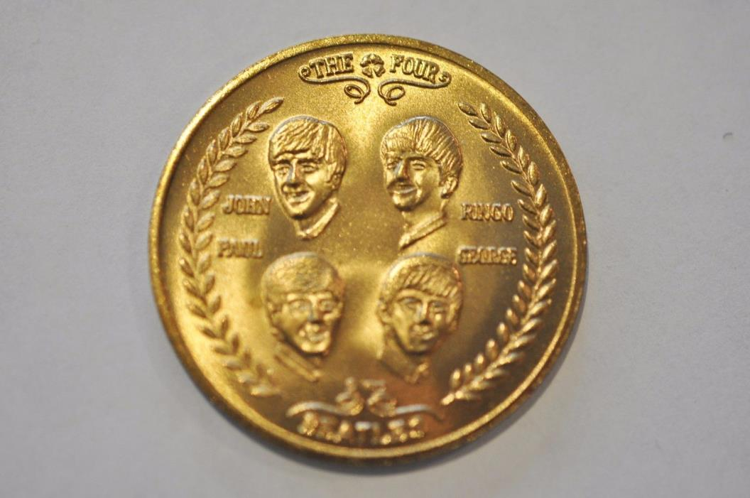 Beatles Commemorative Coin for Their 1964 Visit To America - Mint Condition
