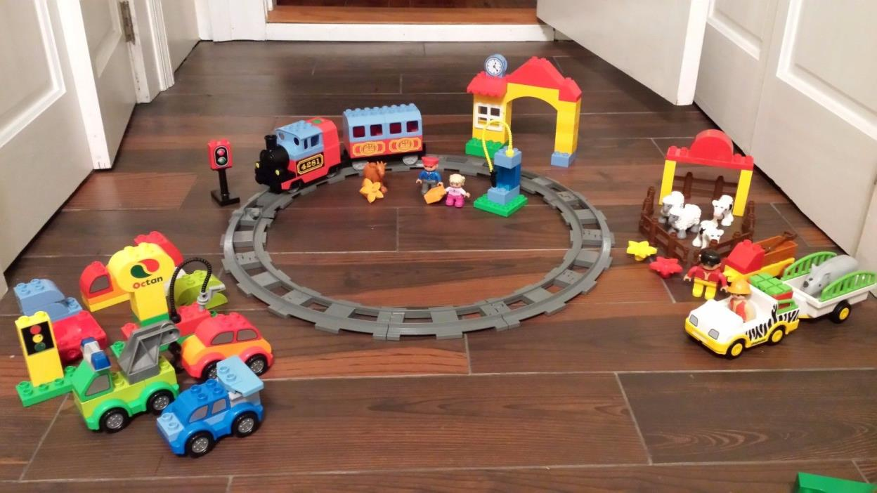 Lego Duplo 10507 First Train Set 10552 Creative Cars + Playmobil & Animal Planet