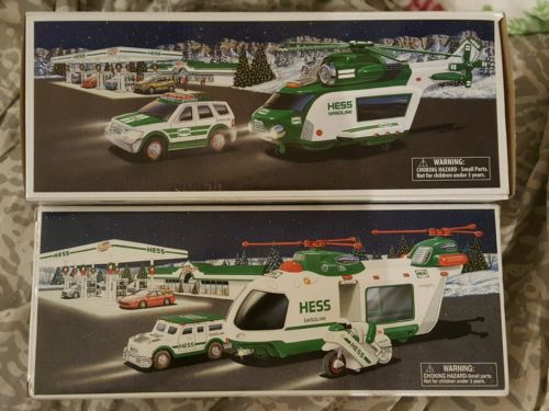 Lot Different (2) New Hess Toy Truck Helicopter Motorcycle Cruiser & Rescue