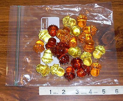 Resin Acorns in Autumn Colors Fall Thanksgiving Holiday Decor - 25 Acorns