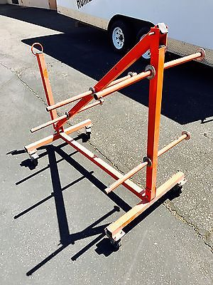 Cable Caddy Dolly Wire Cart 8 Axle Heavy Duty with Wheels-CD3000