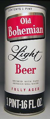 Old Bohemian Light Pull Tab Beer Can, 16 oz., Eastern Brewing, Hammonton, NJ