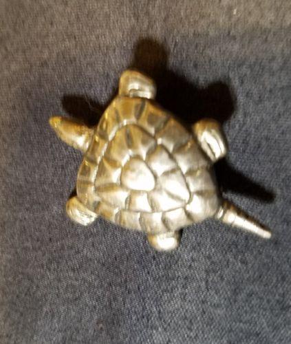 Vintage Silver Mexico  Turtle Pin Brooch Mexico. Mexico Silver
