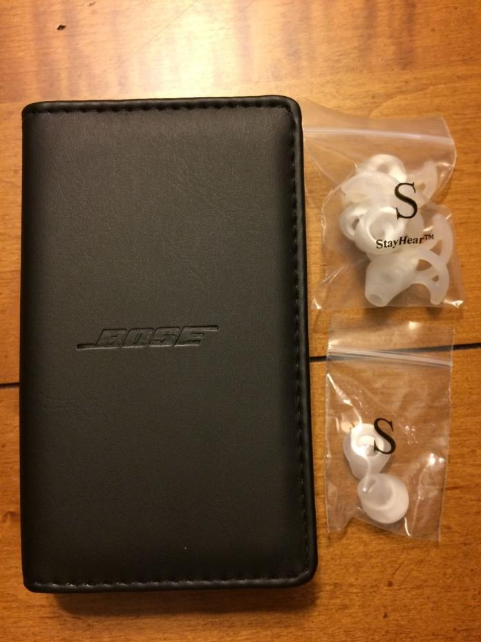New Bose Earbud StayHear Replacement Tips SMALL Plus Case for IE2 Earphones