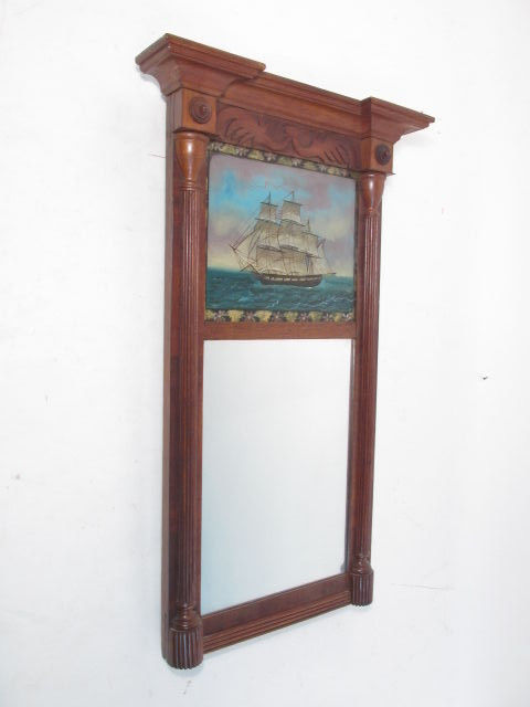 EARLY 19TH C NAUTICAL PIER TABERNACLE MIRROR