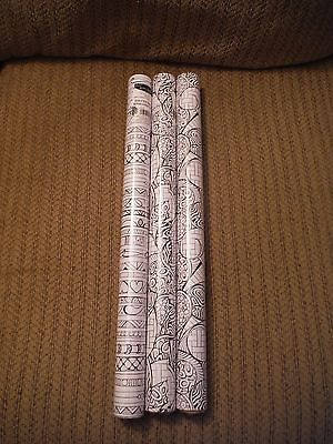 NEW Lot of 3 ZENSPIRATIONS Joanne Fink Wrapping Paper - 20