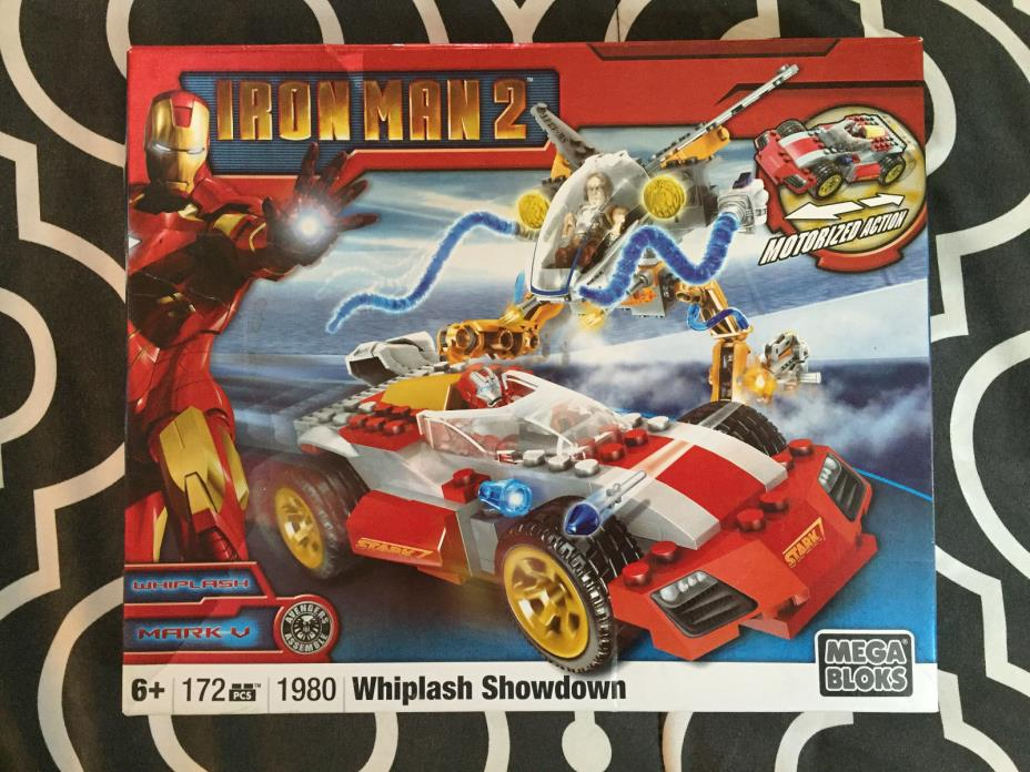 MEGA BLOKS - IRON-MAN WHIPLASH SHOWDOWN #1980 ITEM