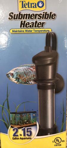 TETRA New Submersible Heater For Fish Aquarium 2-15 Gallon For Water Temperature
