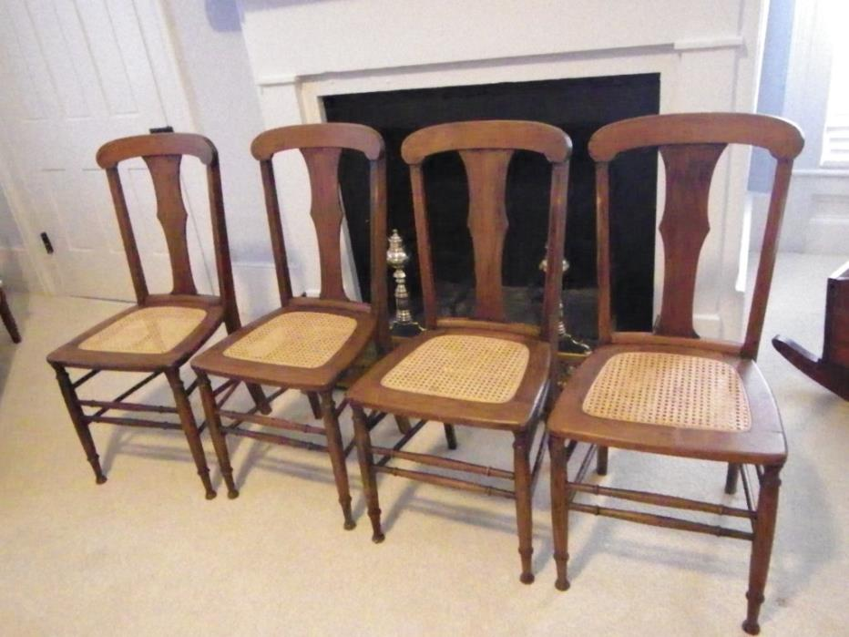 Old pecan chairs with cane seats @ $45
