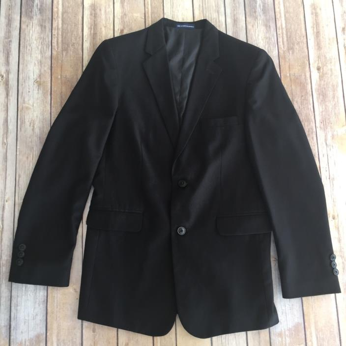 Chaps Blazer 14002 Boys Size 16R Black Wool Blend Uniform Suit Jacket