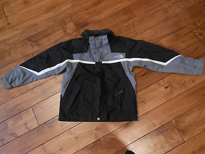 Boys The North Face HyVent Jacket Black Size Medium EUC