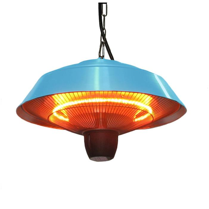 Blue Aluminum 5100 110 Hanging Electric Infrared Dust Resistant Patio Heater