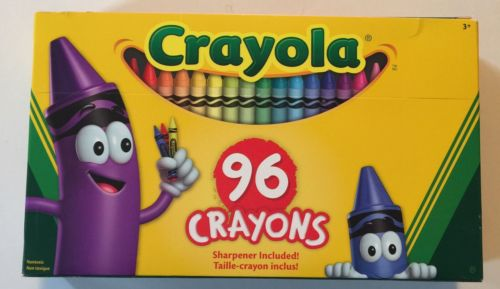 Crayola Crayon Set, Big Box Of 96 (3 Pack)