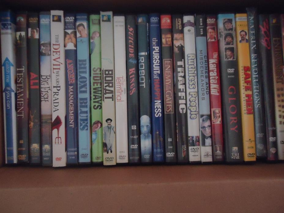 Lot of 24 used DVDs.  Not prior rentals.  With cases.