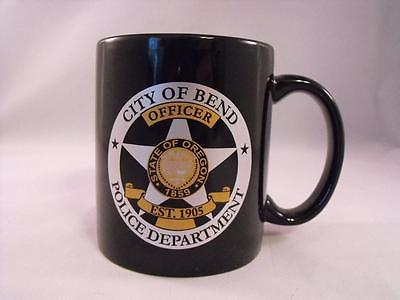 City of Bend Police Department Oregon Officer Coffee Cup Mug Black