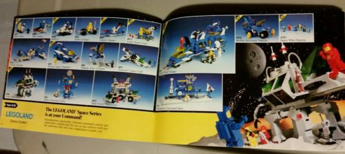 LEGO legoland 1985 Vintage Classic ad book booklet manual space castle police