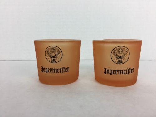 jagermeister Tea Candle Holder Or Orange Shot Glass Heavy Glass Rare