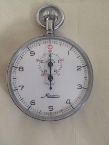Vintage  Minerva Stopwatch Stop Watch Made In Switzerland Nice !!