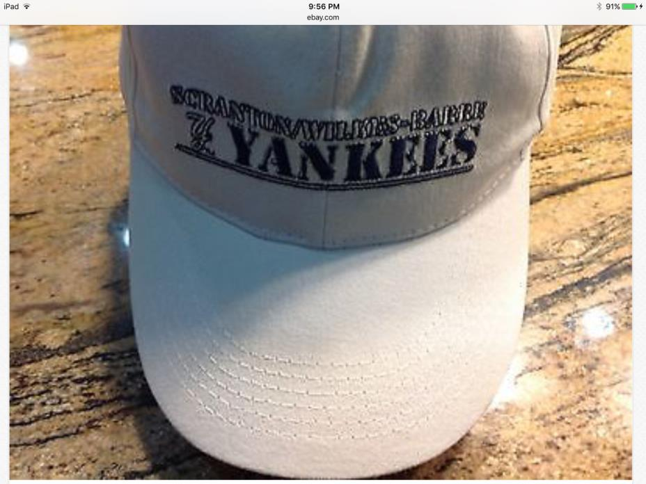 New 1 Scranton Wilkes-Barre Railriders Yankees adjustable velcro hat cap white
