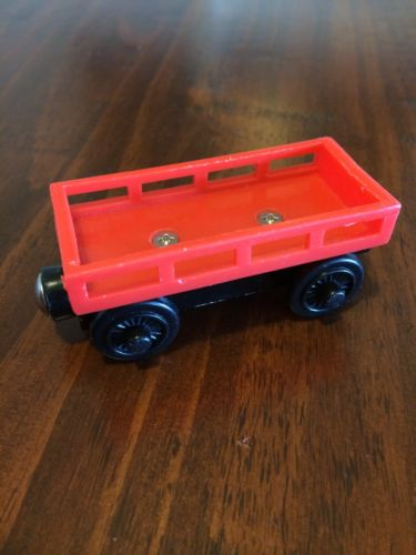 Thomas Wooden Train Red Cargo Car Used