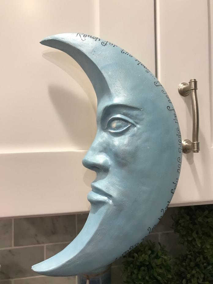 Ceramic moon wall decor