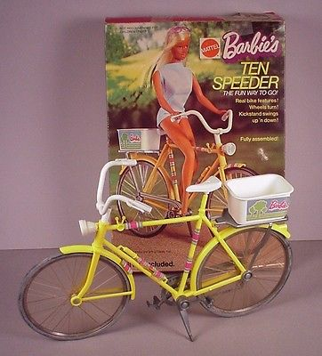 1973 Barbie Doll Ten Speeder bicycle 10 speed bike in box #7777 complete, EX.