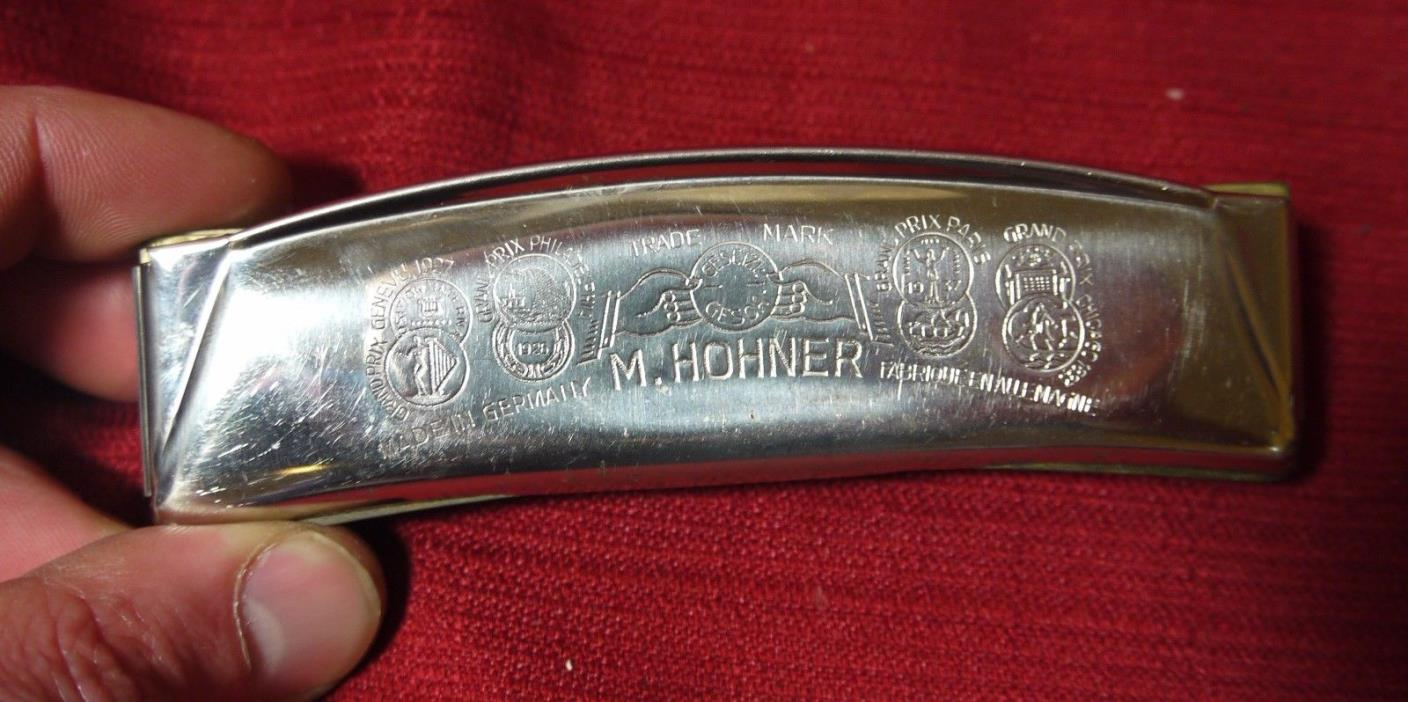 M Hohner Echo Harmonica - Made in Germany Chrome