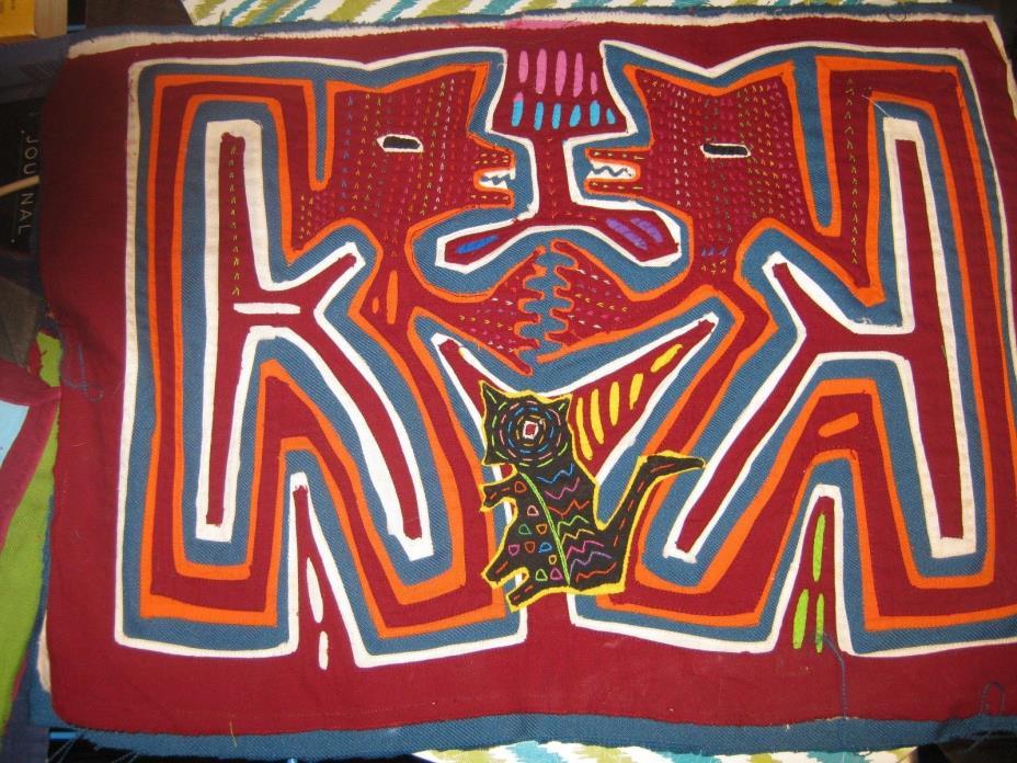 VINTAGE  THREE LAYERS KUNA INDIAN MOLA PANAMA