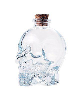 Novelty Glass Skull Face Decanter 33oz Vodka Bottle Botella Liquor