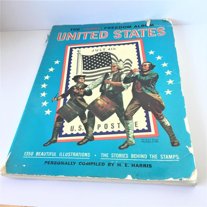 The Harris Freedom Album For Postage Stamps United States Book 300 Plus Stamps