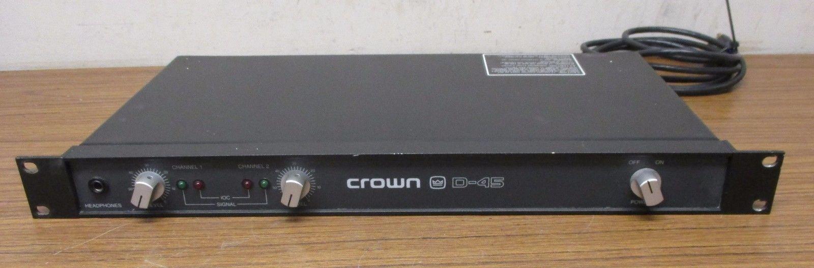 Crown D-45 2-Channel  Power Amplifier