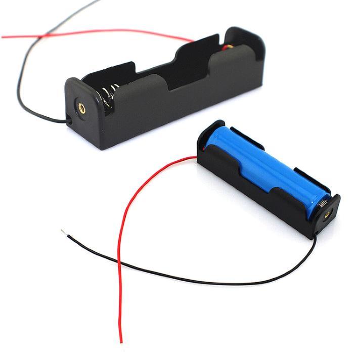 30pcs Lots of Black Battery Storage Box Case Holder for 3.7V18650x1 Batteries