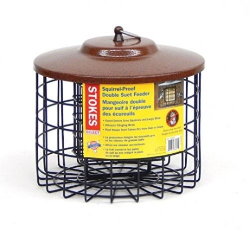 Stokes Select Squirrel Proof Double Suet Bird Feeder with Metal Roof, New