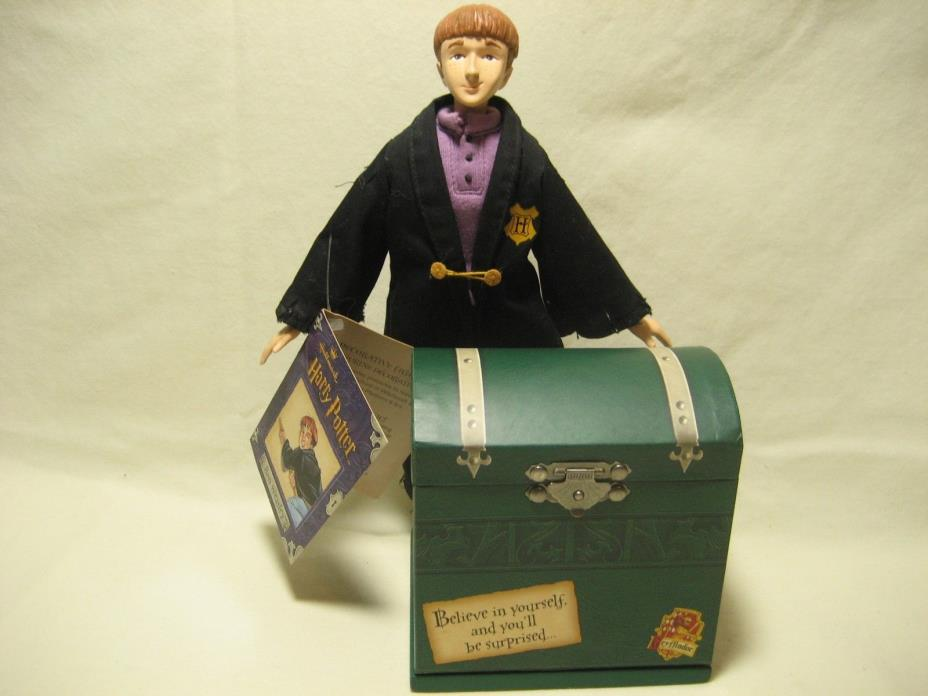 Ron Weasley Hallmark Decorative Figurine with Hogwarts Trunk and Scabbers