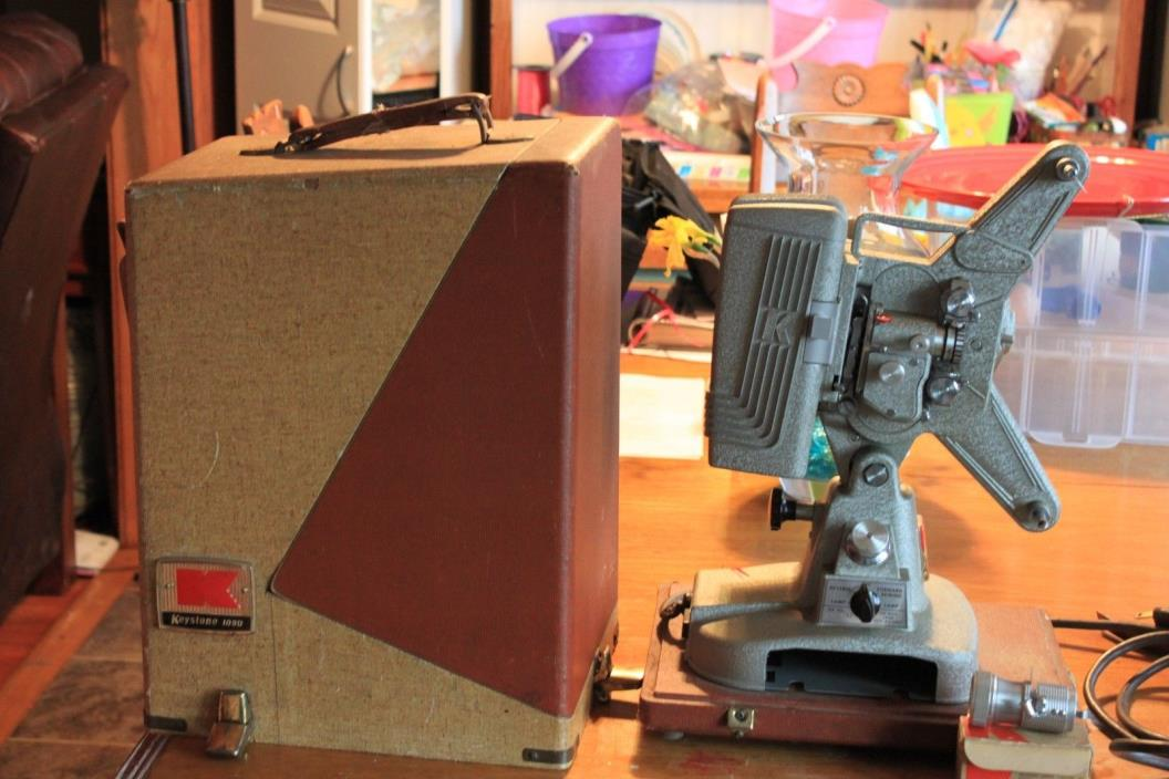 Vintage Keystone 109D 8mm movie projector with case