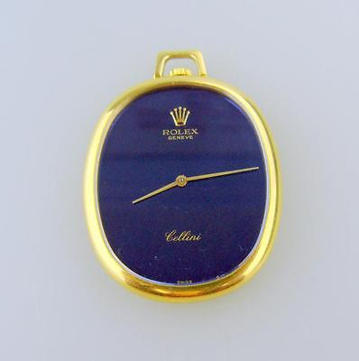RARE Ladies' 18K Yellow Gold Rolex Cellini Keyless Pendant Watch