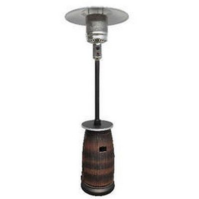 AZ Patio HLDS01-WHDK Tall Wicker Patio Heater With Table NEW