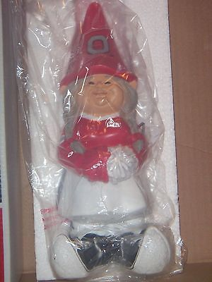 OHIO STATE Indoor/Outdoor Girl Cheerleader Gnome 4.75x4x11.25 NEW!