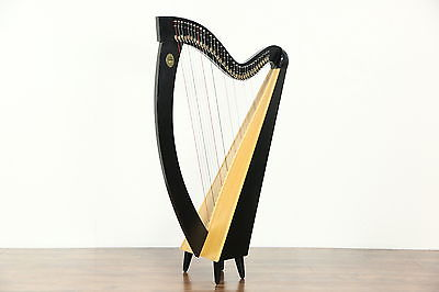 Lyon & Healy Signed Troubadour Harp,  Sylvia Woods Music & Accessories