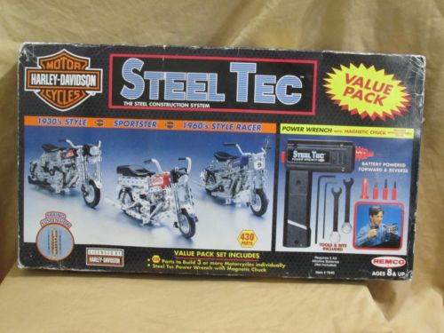 New Harley Davidson Motor Cycles Steel Tec Construction System 7040 Value Pack